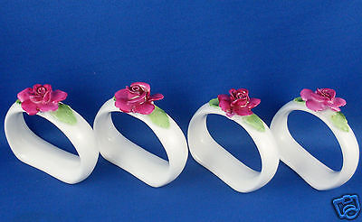 HANDCRAFTED Rare STAFFORDSHIRE Bone China ENGLAND Napkin Rings Napkin Holders