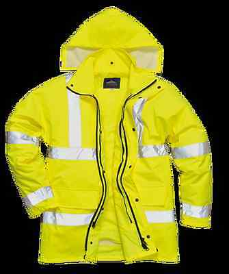 Portwest HiVis 4in1 Traffic Jacket - Regular, Yellow, Size S