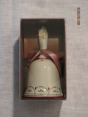 "Colonial Candle of Cape Cod Cranberry Datenut Square Bell,Porcelain,5 3/4"" Tall"