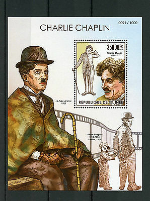 Guinea 2015 MNH Charlie Chaplin 1v S/S Jackie Coogan The Kid Film Stars Stamps