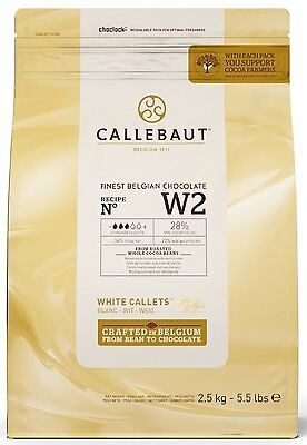 Barry Callebaut White Chocolate Callets 2.5KG