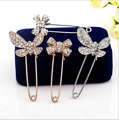 Butterfly Party Rhinestone Pin Fashion Brooch Wedding Jewelry Crystal New