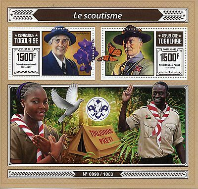 Togo 2015 MNH Scouting 2v S/S Scouts Scoutisme Robert Baden-Powell Stamps