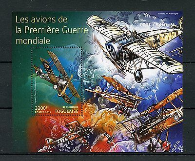 Togo 2015 MNH WWI Military Aircraft First World War I 1v SS Sopwith Camel Stamps