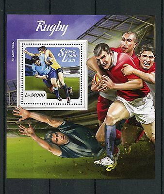 Sierra Leone 2015 MNH Rugby 1v S/S Sports Stamps