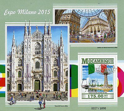 Mozambique 2015 MNH Expo Milano 2015 1v S/S Piazza del Duomo Milan Cathedral