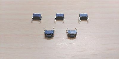 5 PACK - 2 PIN Momentary Push Button Tactile Switch - (3 x 6 x 4.3mm)