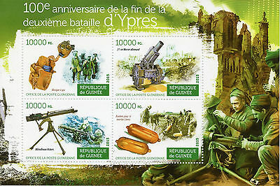 Guinea 2015 MNH 2nd Battle of Ypres 100th Anniv 4v M/S WWI World War I Stamps