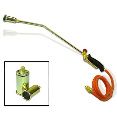 Propane Gas Down Roofing Flame Thrower Gun Torch Tool Weed Brush Burner Burning