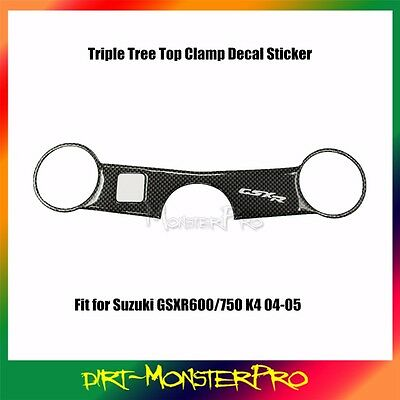 Triple Tree Top Clamp Upper Front End Pad Decal For Suzuki GSXR600 2004 2005 K4