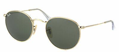 Authentic Ray Ban RB 3447 Round Metal 001 Arista Gold Vintage Sunglasses 50mm