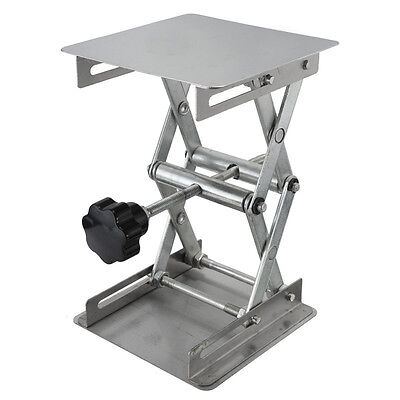 "HFS (R) Plate 8x8""; Overall Height 10""; Lab Jack Scissor Stand Platform LAB"