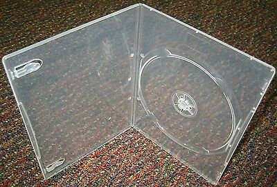 100 Ultra Slim 4Mm Clear Single Dvd Case Box Bsl1