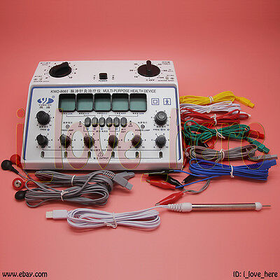 Electric Acupuncture Stimulator KWD808-I 6 Output Patch Electronic Massager Care