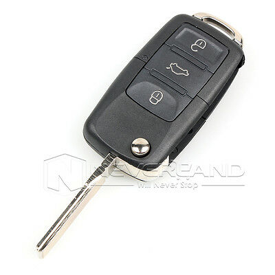 Replacement 3 Button Remote Car Key Fob Case for VW Volkswagen Golf Skoda Seat