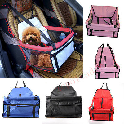 Folding Travel Pet Bed/Seat Barrier Car Carrier W/ Safety Belt For Dog/Puppy/Cat