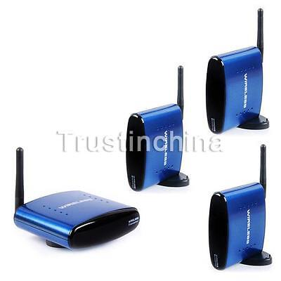 Pat-630 5.8GHZ Wireless AV Audio Video SD TV Sender 1 Transmitter 3 Receivers