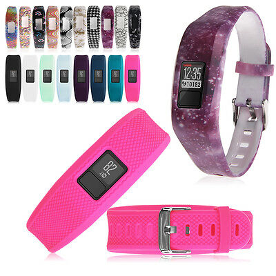 Replacement Silicone Wrist Bracelet Band Strap+Metal Buckle for Garmin Vivofit 3