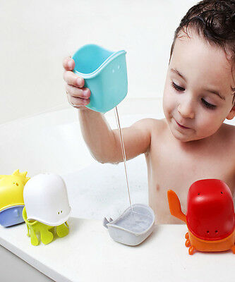 Boon Creatures Interchangeable Kids Baby Bath Toy Cup Set