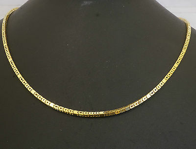 "18Carat Yellow Gold 16"" Fancy Box Link Chain (2mm Wide)"