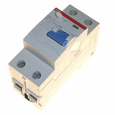80 amp 30mA double pole RCD RCCB trip switch 80A DP ABB F202 AC