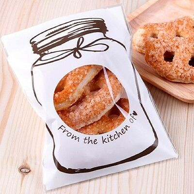 100Pcs Candy Cookie Gift Bag Self Adhesive Pouch Wedding Party Supplies