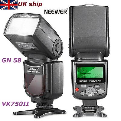 Neewer VK750 II Flash Speedlite LCD GN58 for Nikon D3100 D7000 D5100 D5200 D3200