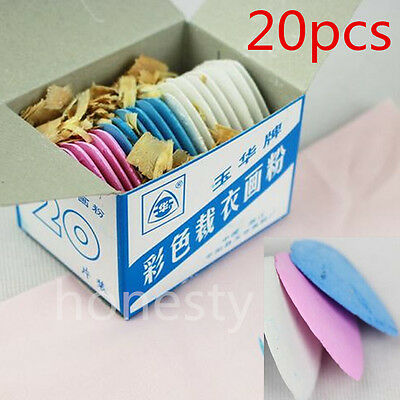 Multi Colored Fabric Marking Tailor Chalk Tailoring Dressmaking Chalks 20pcs