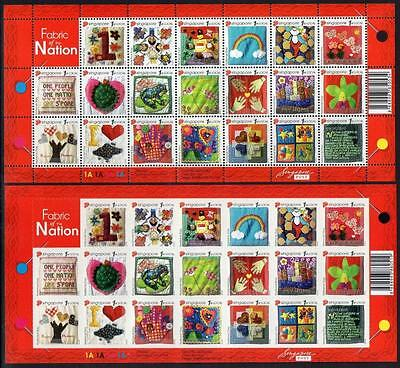Singapore Mnh 2005 Fabric Of The Nation Ord + S/a  Sheetlets