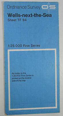 1966 old OS Ordnance Survey 1:25000 First Series map TF 94 Wells-next-the-Sea