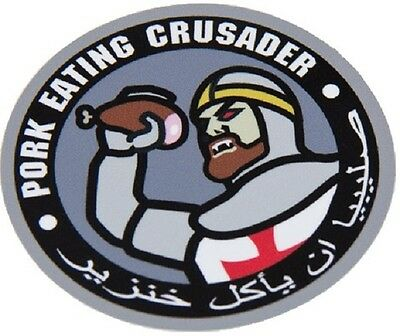 Pork Eating Crusader Tactical Morale Military Car Vehicle Window Decal Sticker