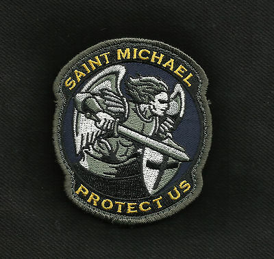 Protect Us Saint Michael - Color - Tactical Badge Morale Military Patch
