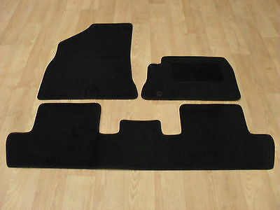 Peugeot 5008 (2010-on) Fully Tailored Car Mats in Black 3 Piece Set