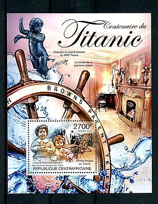 Central African Republic 2013 MNH Titanic Centenary 1v S/S Ships Boats Stamps
