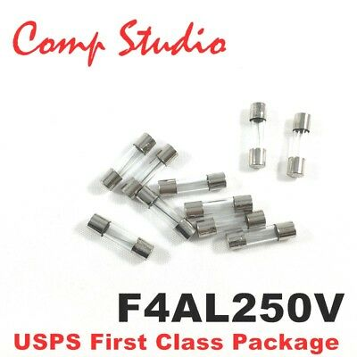 Comp Studio LOT OF 10 4A 250V FUSES F4AL250V 4 Amp Fast-Blow FUSE 5mm x 20mm C