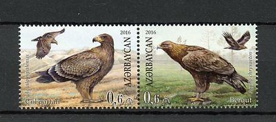 Azerbaijan 2016 MNH Eagles Joint Issue Belarus 2v Se-tenant Set Birds Stamps