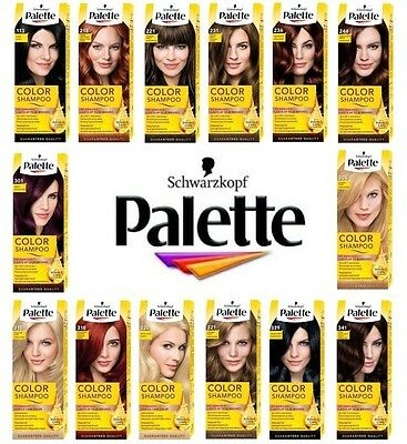 Schwarzkopf Palette Color Shampoo Demi-Permanent Hair Dye Colour 16 different