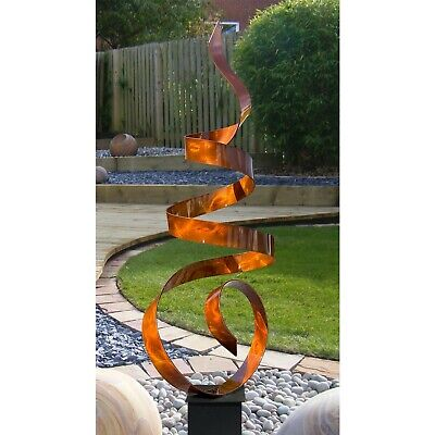 Statements2000 Metal Sculpture Garden Decor Modern Art Jon Allen Aqua Sea Breeze