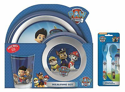 Paw Patrol   Chase   Marshall   Rubble 5pc Tumbler, Bowl, Plate Set & Cutlery