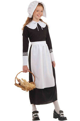 Brand New Instant Colonial Pilgrim Girl Costume Kit (Child)