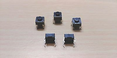 5 PACK - 4 PIN Momentary Push Button Tactile Switch - (6 x 6 x 5mm)