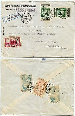 French West Africa Ivory Coast 1938 Airmail to Morocco