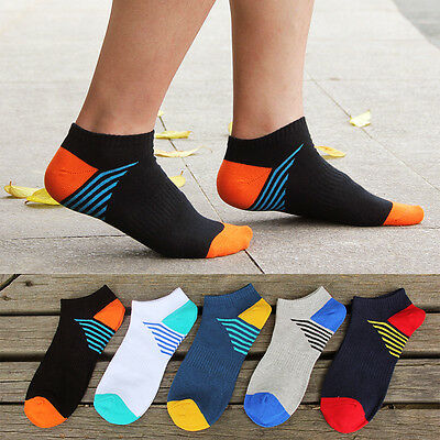 5 Pairs Fashion Mens Sports Socks Lot Crew Ankle Low Cut Casual Cotton Sock 6-10
