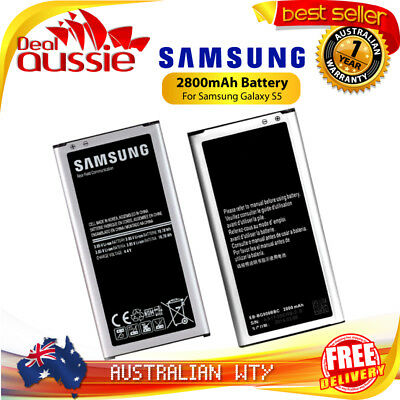 NEW REPLACEMENT BATTERY 2800mAh FOR SAMSUNG GALAXY S5 SM-G900 - OZ SELLER