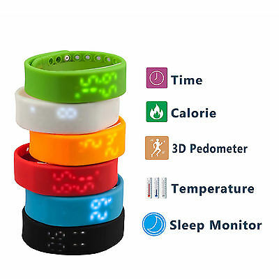 Lcd Smart Wrist Watch Pedometer Step Calorie Walking Jogging Running Distance
