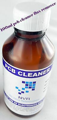 PCB touch up cleaner Flux remove Soldering   pcb cleaner ( plastic safe ) 100ml