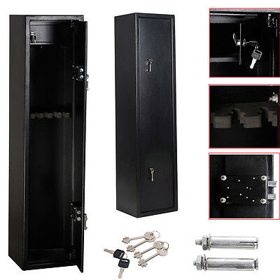 XL 6 Gun Cabinet Scoped Rifle Shortgun Internal Ammo Safe W/2 Keys145x35x30cm