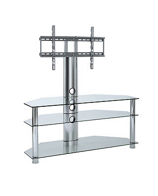 clear glass tv stand swivel mount 32 inch - 65 inch LCD LED smart tv screens