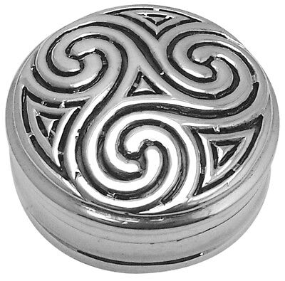 Celtic Design Pillbox Sterling Silver 925 Hallmarked New From Ari D Norman