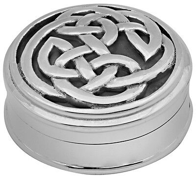 Celtic Pillbox Sterling Silver 925 Hallmarked New From Ari D Norman
